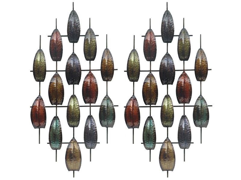 Jeweled Journey Metal Wall Art Hanging Set of 2