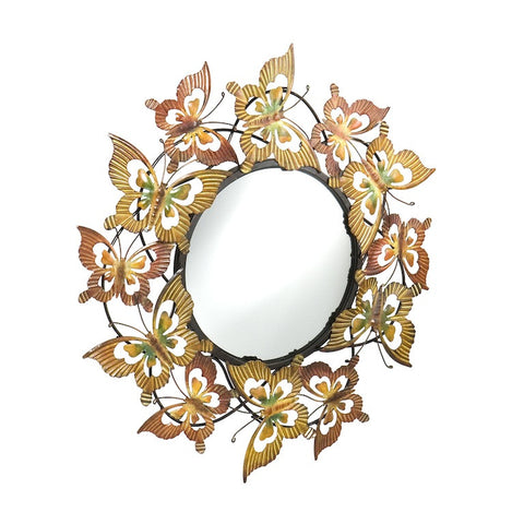 Butterfly Reflections Metal Wall Mirror