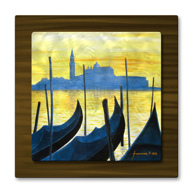 Gondolas of Venice Metal Art