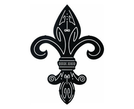 Flower of the Lily Fleur De Lis Metal Wall Sculpture