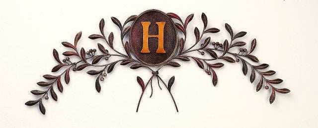 Autumn Wheat Personalized Monogrammed Metal Door Topper
