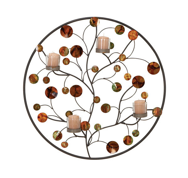 Circles of Beauty Branches Metal Wall Hanging