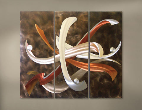 Abstract Absolution Metal Wall Hanging Set of 3