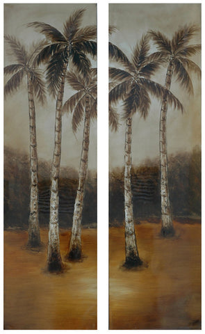 Palm Tree Cove Art Pair