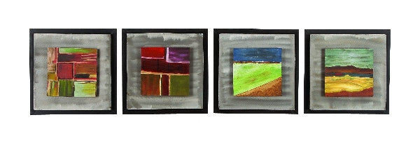 Abstract Adulation Metal Wall Art Quad Set