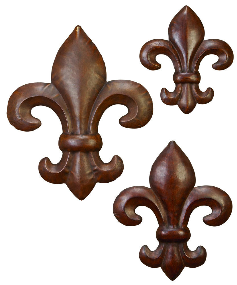 Graduated Fleur de Lis Decors Set of 3