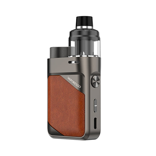 Swag PX80 Vape Pod Mod Kit Leather Brown | Vaporesso | VapourOxide Australia