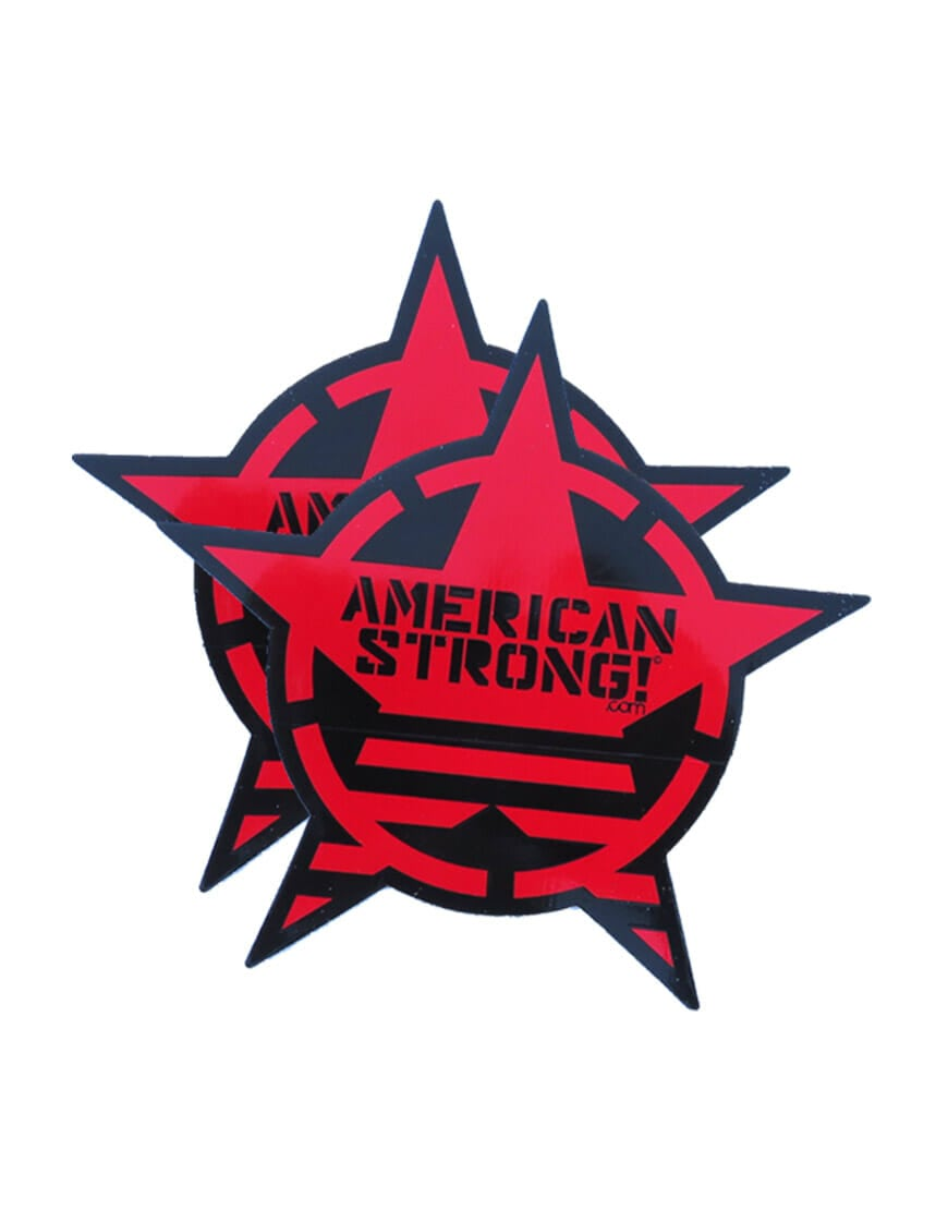 "(2) AMERICAN STRONG 9.5"" decals"