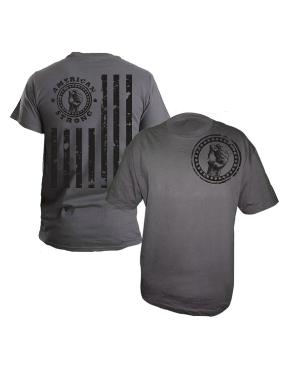 FLAG STRONG - GRAY   (SMALL ONLY)