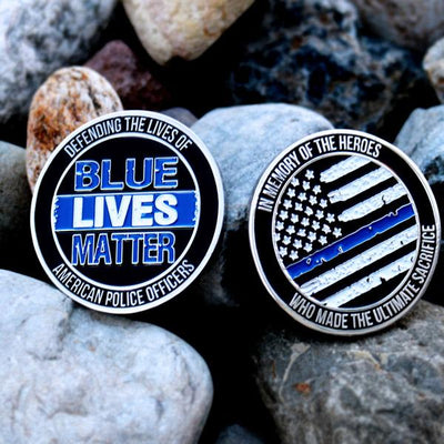 Blue Lives Matter Challenge Coin