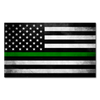 Thin Green Line Flag Decal