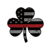 Thin Red Line Shamrock Flag Decal
