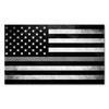 Thin Silver Line Flag Decal