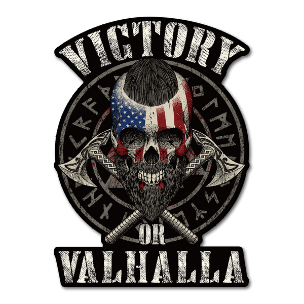 Victory Or Valhalla Decal American Strong