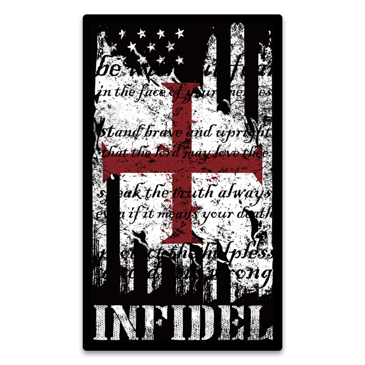 American Infidel Flag Decal