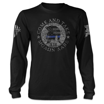 American Spartan Thin Blue Line Long Sleeve
