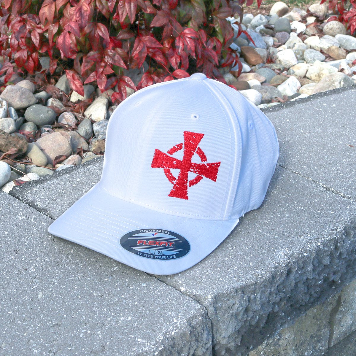 Crusader Flexfit Hat White