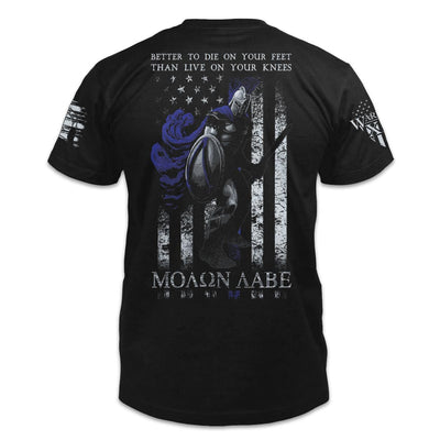 Die On Your Feet Thin Blue Line Shirt