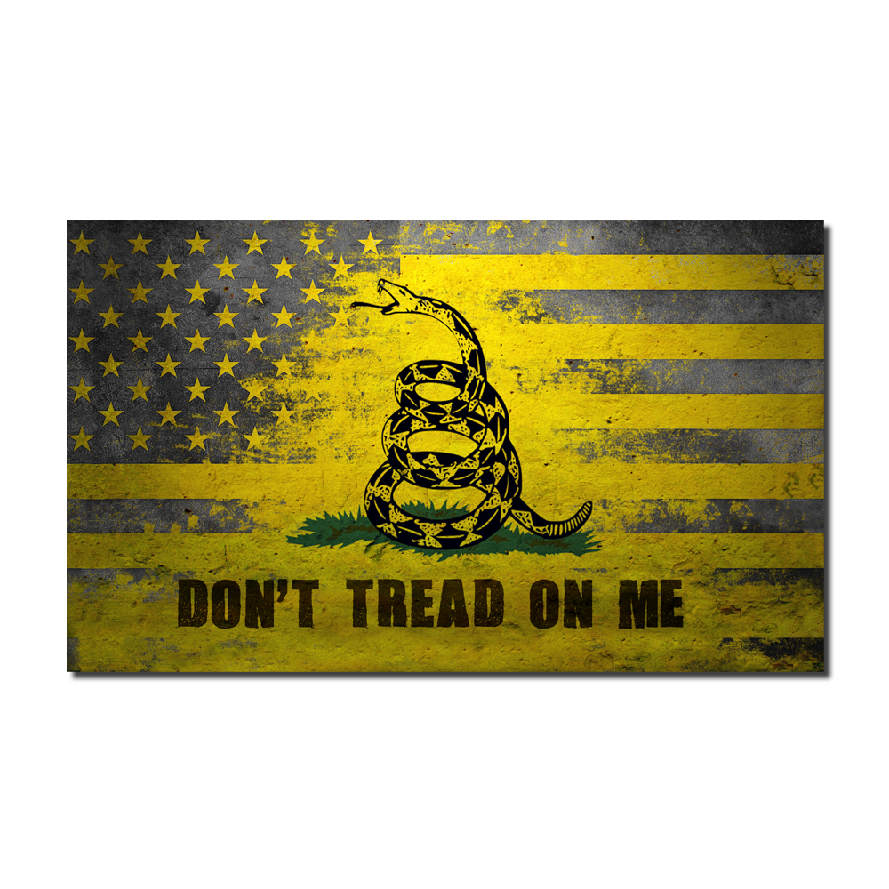 American Gadsden Don't Tread On Me Flag Decal