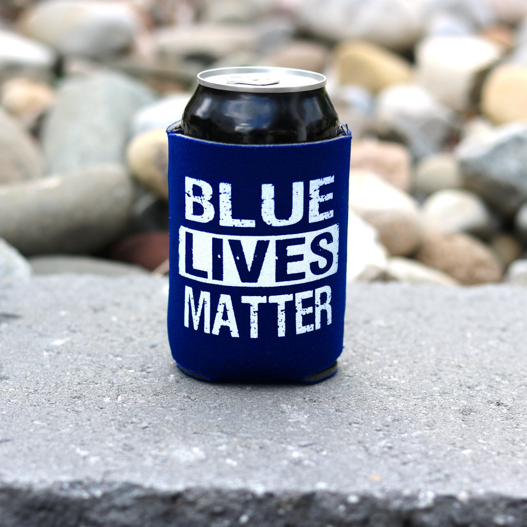 Blue Lives Matter Can Cooler