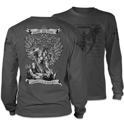 Saint Michael Defend Us Long Sleeve