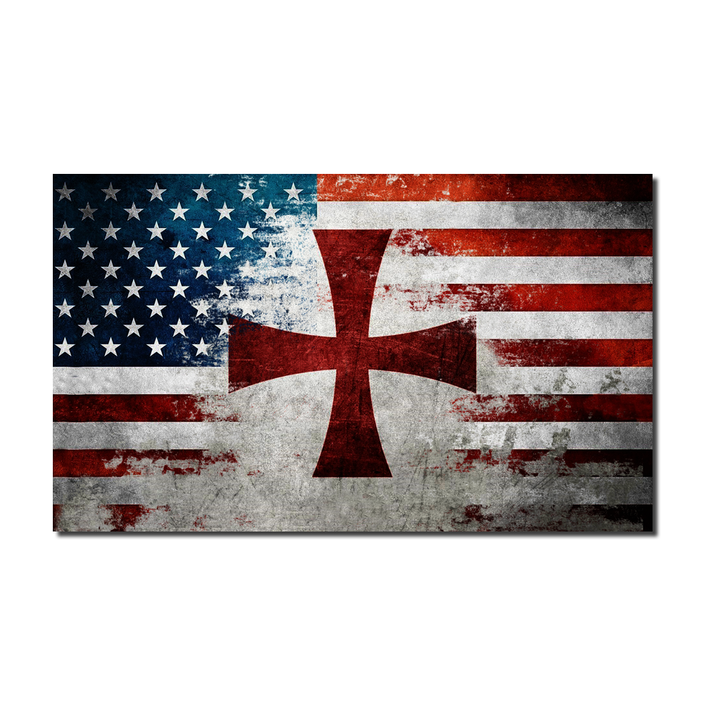 American Crusader Flag Decal - American Strong