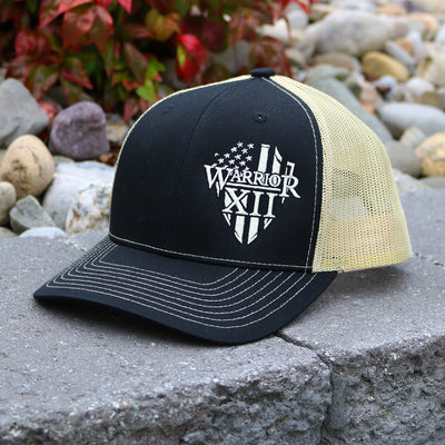 The Warrior Snapback Hat Black/Cream