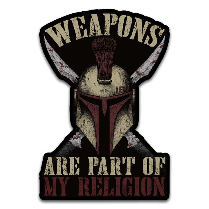Weapons Are Part Of My Religion Decal