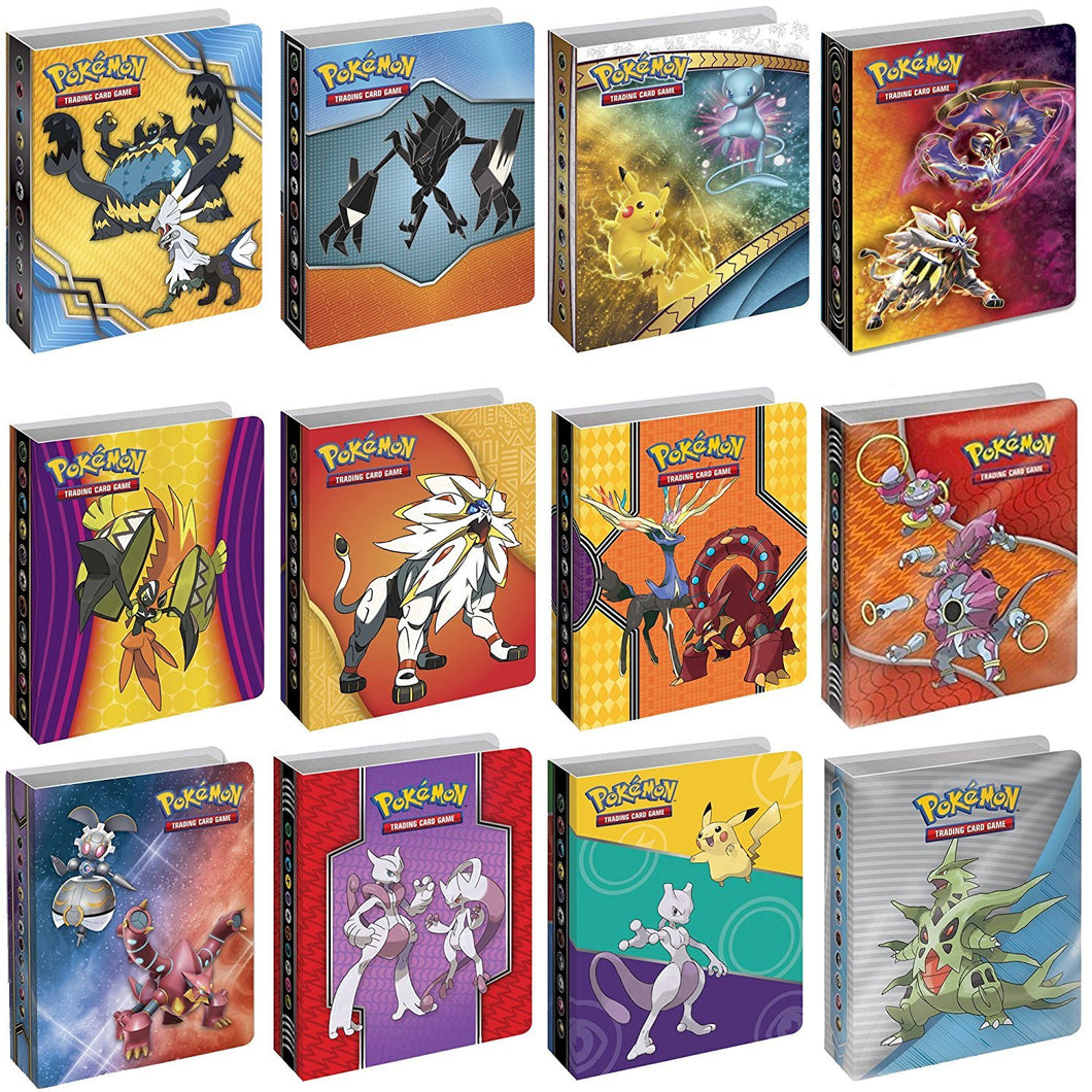 Pokemon TCG: Bundle of 4 Mini Album Binders for Pokemon Cards | Each Binder Includes Clear Plastic Sleeves for 60 Cards