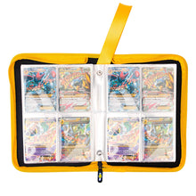Load image into Gallery viewer, Totem World Zipper Binder Black Yellow with 25 4-Pocket Side-Loading Pages