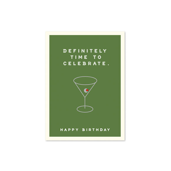 J. J. Falkner designed- Martini Birthday