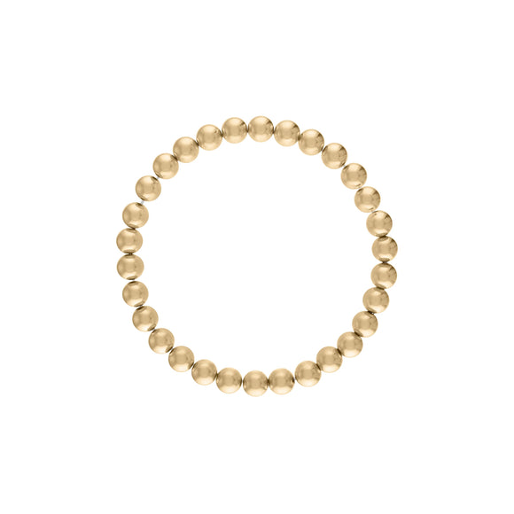 6MM Gold Ball Bracelet