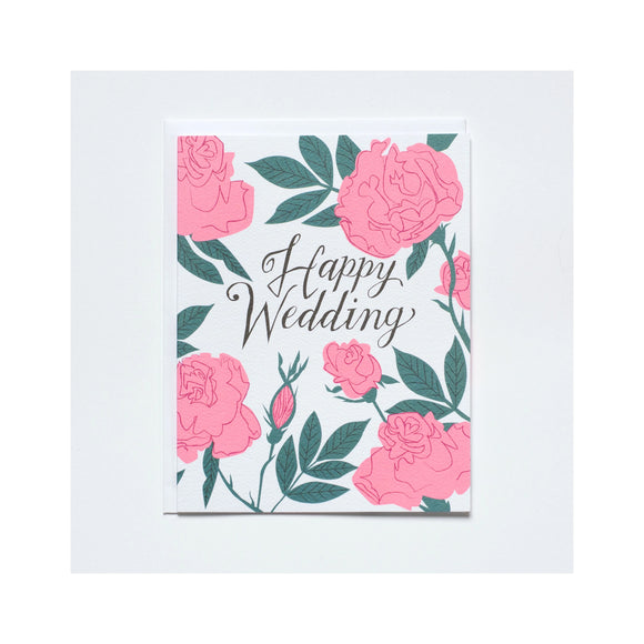 Happy Wedding Floral Card