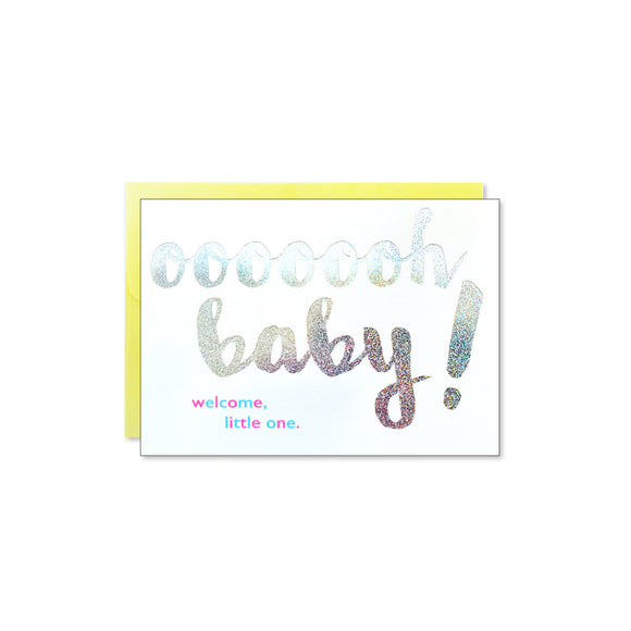 Oooh Baby Welcome Card