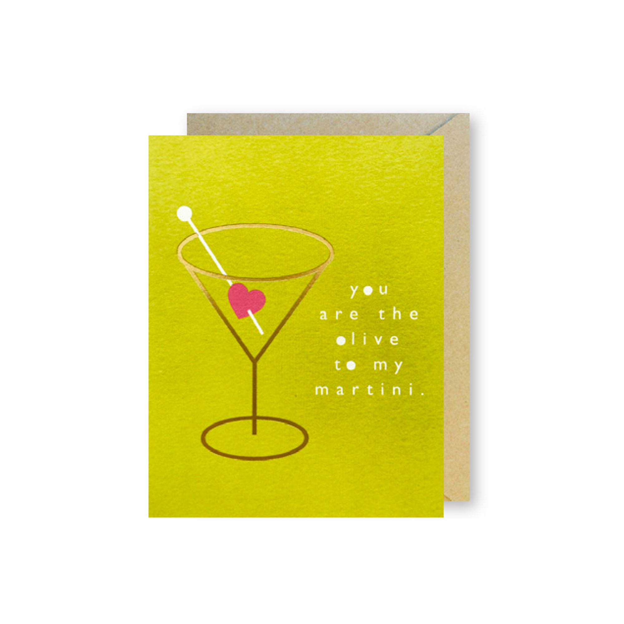 Martini Heart Card