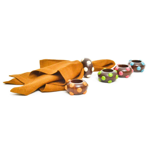 M&M Napkin Ring, Orange