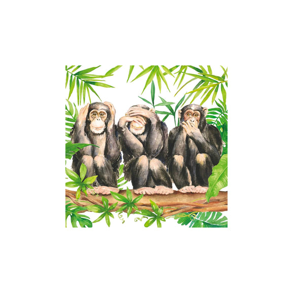 Three Apes Cocktail Napkins