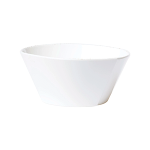 Melamine Lastra White Large Stacking Serving Bowl