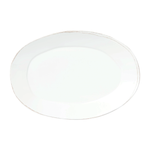 Load image into Gallery viewer, Melamine Lastra White Oval Platter