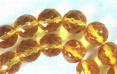 Golden Faceted Citrine Beads -10mm
