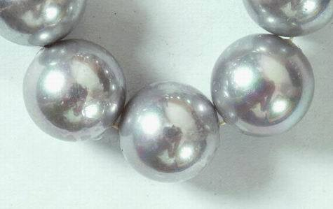 Dramatic Huge Shiny 14mm Silver Shell Beads