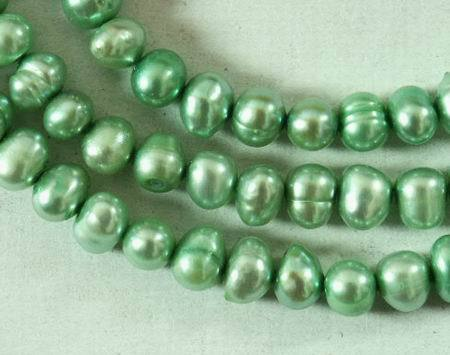 Peppermint-Green Round 4mm Pearl String