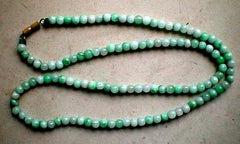 Beautiful Best Chinese Jade Bead Necklace - 8mm