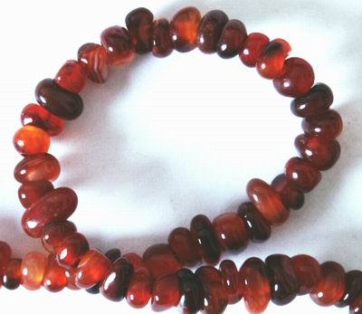 Red Carnelian Heishi Bead String - for confidence