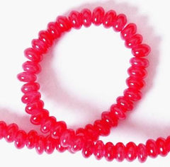 130 Majestic Red Jade Rondelle Bead String