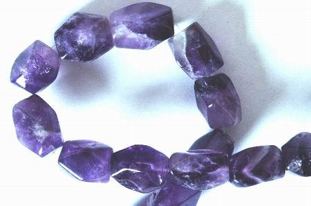 Majestic Faceted Amethyst Nugget Beads - Huge!