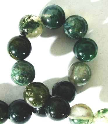 Beautiful Mint Moss Agate Beads  4mm ,6mm, 8mm or 10mm