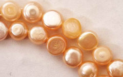Sensuous Peach Button Pearls
