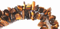 Rich Tiger Eye Chip Beads - Long 33-inch String