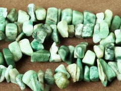 Russian Amazonite Chips Beads - 32-inch String